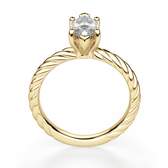 Кольцо с бриллиантом маркиз из золота,  Больше Изображение 2