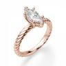 Кольцо с бриллиантом маркиз в розовом золоте, Изображение 3