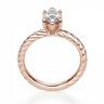 Кольцо с бриллиантом маркиз в розовом золоте, Изображение 2