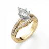 Кольцо с бриллиантом маркиз и паве, Изображение 4