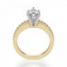 Кольцо с бриллиантом маркиз и паве, Изображение 2