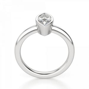 Кольцо с бриллиантом маркиз в белом золоте - Фото 1