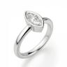 Кольцо с бриллиантом маркиз в белом золоте, Изображение 3