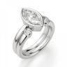 Кольцо с бриллиантом маркиз в белом золоте, Изображение 4