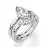 Кольцо с бриллиантом маркиз в белом золоте, Изображение 5