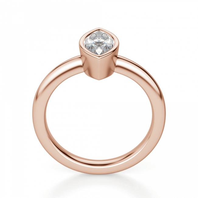 Кольцо с бриллиантом маркиз в глухой закрепке