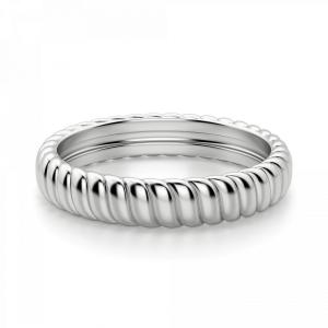 Кольцо из золота плетеное