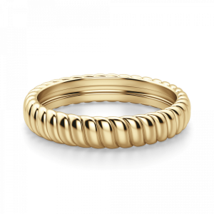 Кольцо из золота с волнистым декором