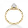 Кольцо с бриллиантом Груша из желтого золота, Изображение 2