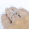 Кольцо с бриллиантом капля на шинке из шариков, Изображение 5