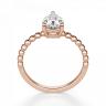 Кольцо с бриллиантом капля из розового золота, Изображение 2