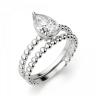 Кольцо с бриллиантом капля на шинке из шариков, Изображение 4