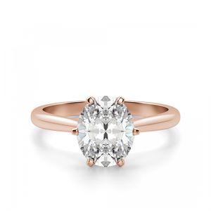 Кольцо с овальным бриллиантом классика