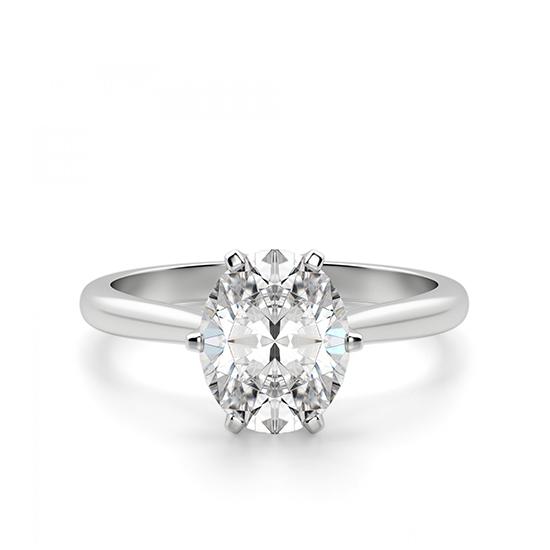 Кольцо с овальным бриллиантом в 6 крапанах, Больше Изображение 1