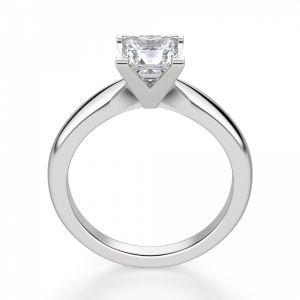 Кольцо с бриллиантом «принцесса» - Фото 2