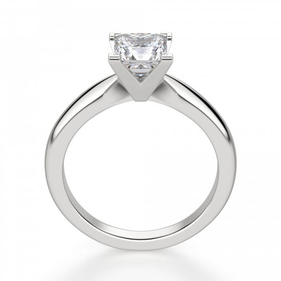 Кольцо с бриллиантом «принцесса»,  Больше Изображение 3