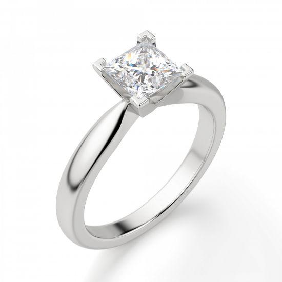 Кольцо с бриллиантом «принцесса»,  Больше Изображение 5