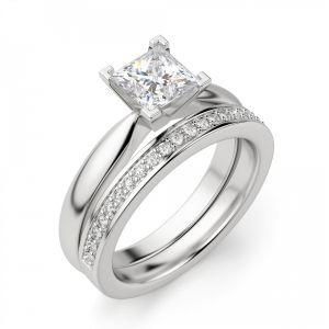Кольцо с бриллиантом «принцесса» - Фото 3