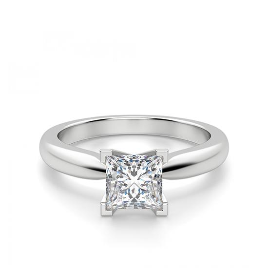 Кольцо с бриллиантом «принцесса», Больше Изображение 1