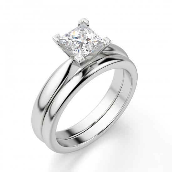 Кольцо с бриллиантом «принцесса»,  Больше Изображение 2