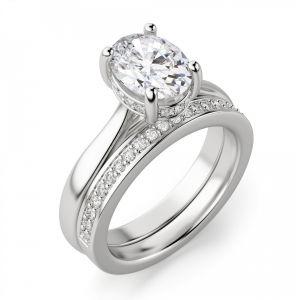 Кольцо с 1 овальным бриллиантом