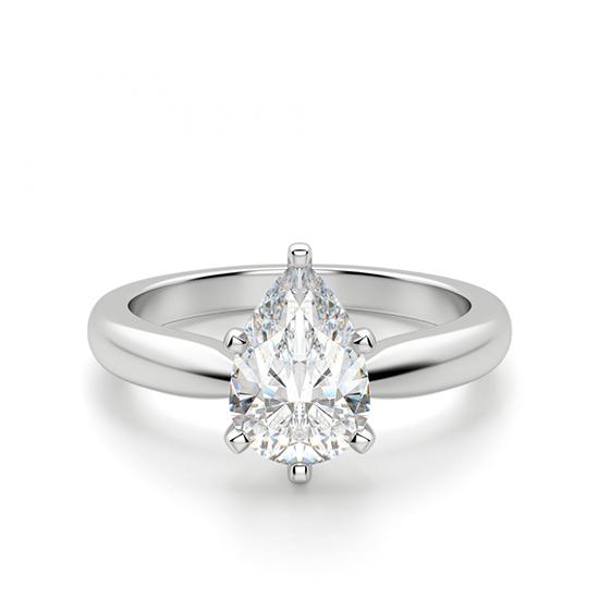 Кольцо с бриллиантом капля, Больше Изображение 1