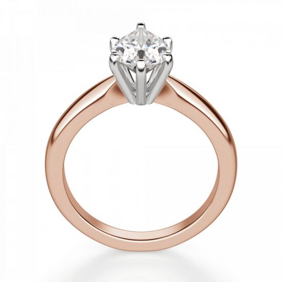 Кольцо с бриллиантом капля в 6 лапках,  Больше Изображение 2