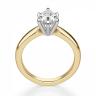 Кольцо с бриллиантом капля в 6 лапках из золота, Изображение 2