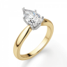 Кольцо с бриллиантом капля в 6 лапках из золота, Изображение 3