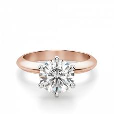 Кольцо с бриллиантом солитер из розового золота