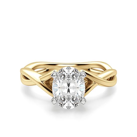 Кольцо с овальным бриллиантом, Больше Изображение 1
