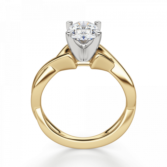 Кольцо с овальным бриллиантом,  Больше Изображение 2