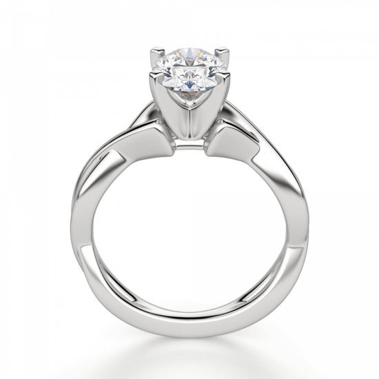 Кольцо с переплетением с овальным бриллиантом,  Больше Изображение 2
