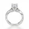 Кольцо с переплетением с овальным бриллиантом, Изображение 2