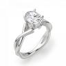 Кольцо с переплетением с овальным бриллиантом, Изображение 3