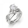 Кольцо с переплетением с овальным бриллиантом, Изображение 4