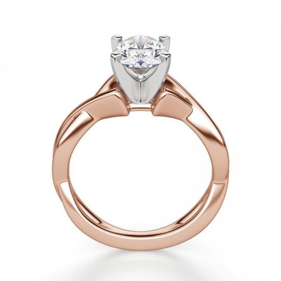 Кольцо с переплетениями с овальным бриллиантом,  Больше Изображение 2