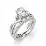 Кольцо с переплетением с овальным бриллиантом, Изображение 5