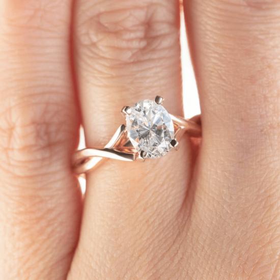 Кольцо с овальным бриллиантом,  Больше Изображение 7