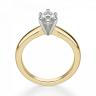 Кольцо с бриллиантом маркиз в 6 лапках из золота, Изображение 2