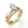 Кольцо с бриллиантом маркиз в 6 лапках из золота, Изображение 6