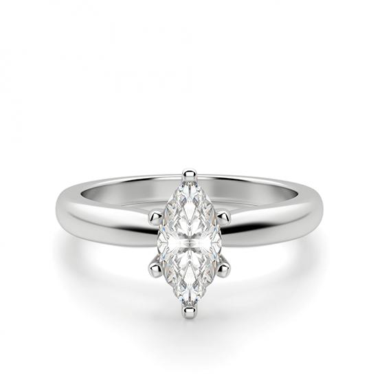 Кольцо с бриллиантом маркиз в 6 лапках, Больше Изображение 1