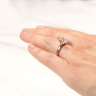 Кольцо с бриллиантом маркиз в 6 лапках из золота, Изображение 7
