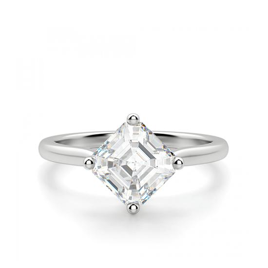 Кольцо с бриллиантом ашер, Больше Изображение 1
