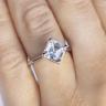 Кольцо из белого золота с бриллиантом ашер, Изображение 4