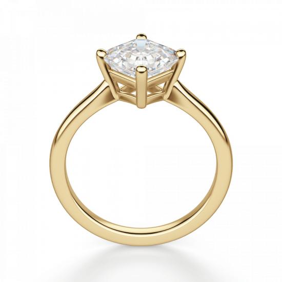 Кольцо с перевернутым бриллиантом ашер,  Больше Изображение 2