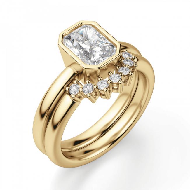 Кольцо с бриллиантом огранки радиант - Фото 4