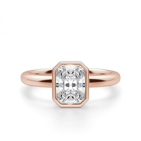 Кольцо с бриллиантом формы радиант, Больше Изображение 1