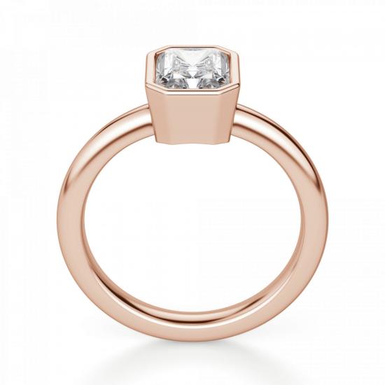 Кольцо с бриллиантом формы радиант,  Больше Изображение 2