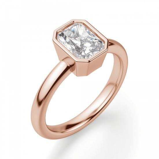 Кольцо с бриллиантом формы радиант,  Больше Изображение 3